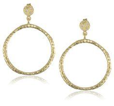MELINDA MARIA Ashley Doorknocker Gold Hoops.  This is on my wish list for my upcoming birthday!  #mybrahminstyle
