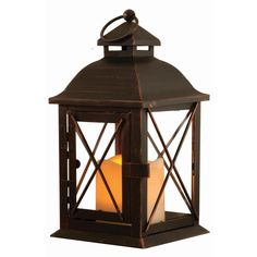 The Aversa lantern is an elegant, understated and classic piece that will compliment a variety of home decor with ease. Standing 10 in. tall, the Aversa features a single pillar amber LED candle that offers beautiful, warm and ambient mood lighting. Wooden Lanterns, Solar Lanterns, Led Lantern, Brown Lanterns, Outdoor Table Lamps, Outdoor Lighting, Landscape Lighting, Outdoor Decor, Led Candles