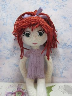 "https://flic.kr/p/dyYbkX | Sisu5 | Sisu, which means 'determined' in Finnish. A doll from the book ""Knitted Dolls,"" by Arne and Carlos. Knit on dpns (not easy for me!) about 15 inches tall and ready to get dressed :-)"