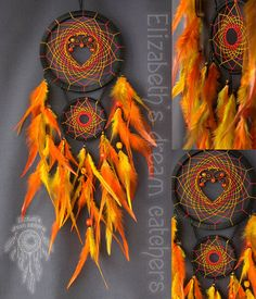 Dream catcher Dreamcatchers wall Orange dream catcher nursery