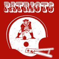 New England Patriots Helmet Vintage t Shirt Football Tee Shirt