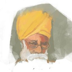 the artist's canvas  love this speed drawing of Bhagat Puran Singh by the immensely talented RGx Singh (@rgxsingh)