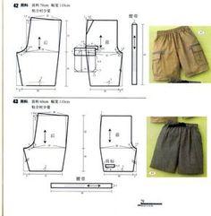 vma.: Sewing Pants, Sewing Clothes, Diy Clothes, Diy Pantalon, Pantalon Cargo, Kids Patterns, Sewing Patterns Free, Clothing Patterns, Men's Clothing