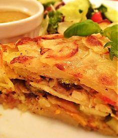 Roasted Vegetable and Tofu Galette