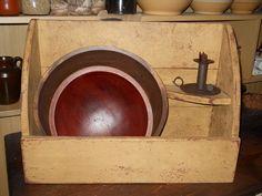 Bowl bin with shelf by Primwoodworksbykld on Etsy, $39.00