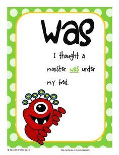 Sight Word Sentence Posters Kindergarten