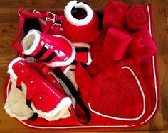 Red matching tack set. Bright and colourful <3 MatchyMatchySets.com