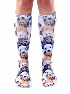 """WE LOVE PUPPIES! *UNISEX *100% POLYESTER *MADE IN THE USA *ONE SIZE FITS MOST *WOMEN'S SHOE SIZE 4-12 *MENS SHOE SIZE 6-13 *20"""" L X 4"""" W"""