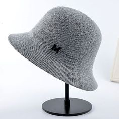 2016 new pattern spring and summer sun bucket hats for women dome Solid color casual linen hat Women's Foldable Headwear