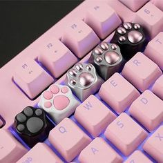Japanese Kawaii Kitty Cat Paws Keyboard Keys Key Cap – You are in the right place about harajuku design Here we offer you the most beautiful pictures about the harajuku tokyo you are looking for. When you examine the Japanese Kawaii Kitty Cat Paws[. Kawaii Pusheen, Chat Kawaii, Kawaii Cat, Kawaii Stuff, Neko Cat, Kawaii Things, Kawaii Anime, Crazy Cat Lady, Crazy Cats