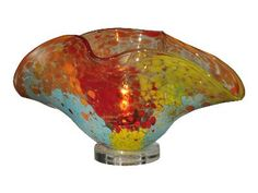 Red sea blown glass accent lamp  19wx10.25dx8.75h  ID #: 389153