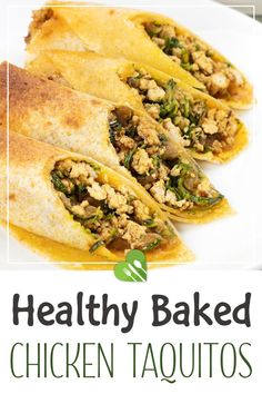 This taquitos recipe will help you make crispy rolls of flavorful chicken and zucchini. All served in just 40 minutes! This recipe makes 4 servings so you can share it or stick it in the freezer and save some for future meals. #chicken #taquitos #baked #rolls #beans #dinner #mexican #maincourse #healthy #easy #healthyrecipes101 Best Mexican Recipes, Best Chicken Recipes, Chicken Flavors, Best Dinner Recipes, Good Healthy Recipes, Ethnic Recipes, Taquitos Recipe, Chicken Taquitos, Crispy Rolls