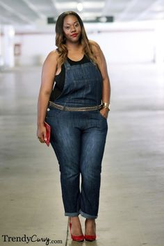 Plus Size Denim Overalls #UNIQUE_WOMENS_FASHION