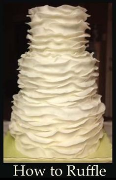 How to make Ruffle Cakes- great tutorials here.