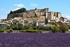 The Drôme is surrounded with fields of lavender villages, a real postcard. Here, the Château de Grignan, typical Renaissance castle, and known through Madame de Sevigne. The Places Youll Go, Places To Visit, French Images, Vaison La Romaine, Beau Site, Provence France, Great Photos, Exterior, Explore