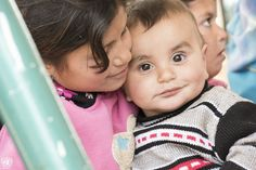 27 mars 2016 - Mark Garten a photographié cette petite fille et ce bébé dans le camp de réfugiés de Zaatari en Jordanie, qui accueille près de 80.000 personnes ayant fui la Syrie.