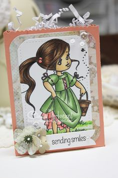Daydreaming to Create, Elisabeth Bell 'Honey', treat bag, gift card holder, Copic Markers, Whimsy Stamps