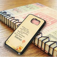 Winnie The Pooh Quote Samsung Galaxy S6 Edge Plus Case