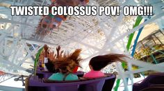 Twisted Colossus REAL POV Front Seat & Back Seat Six Flags Magic Mountai...