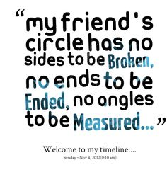 Friends Circle Quotes by Mrs. Jesse Lakin