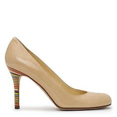 every woman should own a pair of these. flesh color visually elongates your legs. colored heel makes it more fun!