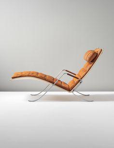 PREBEN FABRICIUS AND JØRGEN KASTHOLM Early 'Grasshopper' chaise longue, designed 1968