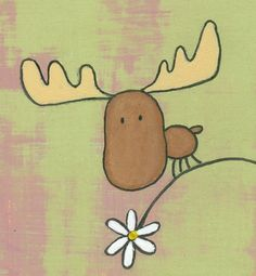 Moose Print by ConstantDreamer on Etsy