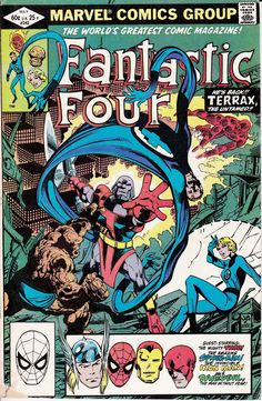 Fantastic Four #242 (May 1982) He's Back!! Terrax, The Terrible!! Cover, Story & Art by John Byrne http://ebay.to/1MkkL4b