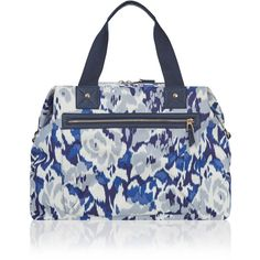 Accessorize Ikat Rose Weekender Bag (£28) ❤ liked on Polyvore featuring bags and luggage