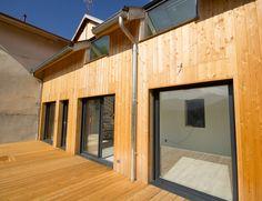 Extension ossature bois et réhabilitation de batiments anciens - grenoble rénovation, France