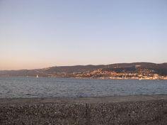 il golfo di Trieste all'alba