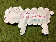 Luke 15:3-7. Parable of the lost sheep. If you had 100 sheep and one was lost, would you leave the others behind and go find the lost one? Find out what Jesus said in His parable of the lost sheep tonight on the blog. Easy, inexpensive, and unique children's Bible lessons. Free to all! Take a look and share!