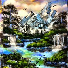 Mountain spray painting - art by Robert Stevens