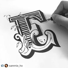 lettering_co: E by @sammie_ho | #letteringco to be featured. #typography…