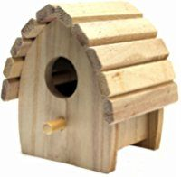 Plaid Round Wood Surface Crafting Birdhouse, 1243 Mini