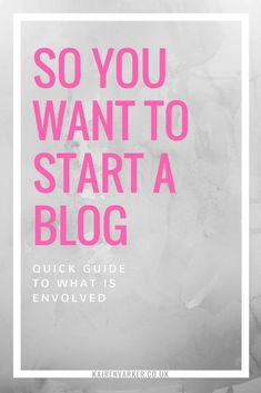 #blogging #howtoblog So you want to start a blog, whohoooo thats brilliant news. Here is a the quick over view version of starting a blog.