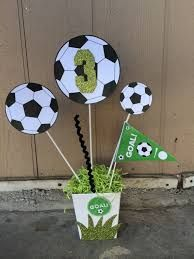 Soccer Birthday Party Theme Centerpiece by FantastikCreations Soccer Birthday Parties, Football Birthday, Sports Birthday, Soccer Party, Sports Party, Birthday Party Decorations, Birthday Games, 9th Birthday, Soccer Ball