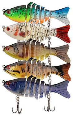 Fishing Lures for Bass, Endoto Multi Jointed Bass Lures, Lifelike Bionic Swimbaits Saltwater Freshwater for Bass Trout Perch