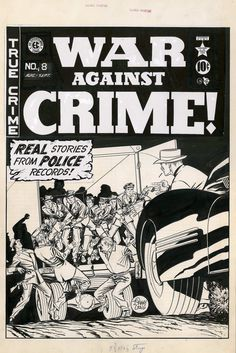 Original cover art by Johnny Craig from War Against Crime! #9, published by EC Comics, August 1949.