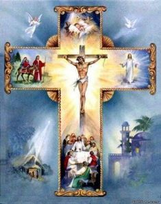 """Sorrowful Mysteries of the Holy Rosary prayed, with beautiful meditations, by Father Benedict Groeschel.  (These mysteries may be difficult to watch.  """"The Passion of the Christ"""" is shown throughout.)"""