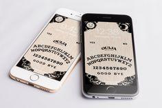Ouija lock screen wallpaper looks sweet!  https://www.etsy.com/listing/504892855/ouija-iphone-background-wallpaper-mobile