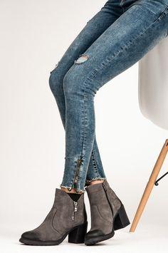 e022ebe609dbf Luxusné členkové topánky z prírodnej kože šedej - 1007 / 5G | 38/5 Spandex