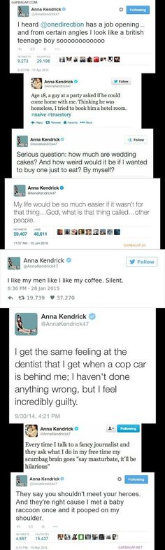 Top 8 Funniest Tweets By Anna Kendrick