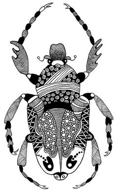Zentangle Bug from Flickr - Oops! how did a Zentangle bug manage to creep into a Steampunk Menagerie...? Maybe I should add a few cogs and things to him...?