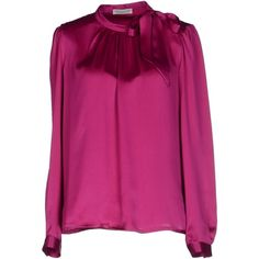Roberto Collina Blouse (4.885 RUB) ❤ liked on Polyvore featuring tops, blouses, fuchsia, long sleeve blouse, roberto collina, fuschia blouse, purple blouse and long sleeve tops