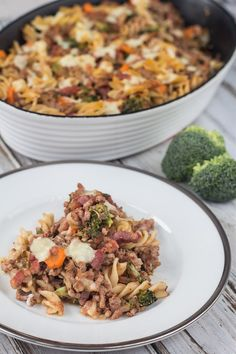 Healthy Pork, Broccoli and Bacon Pasta - Nordic Food & Living Pork Broccoli, Bacon Pasta, Fast Dinners, Delicious Dinner Recipes, Delicious Food, Healthy Dishes, Pasta Dishes, Fried Rice, Soul Food