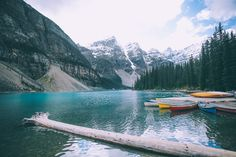 Barefoot Blonde at Moraine Lake in Banff Canada