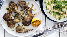The Blue Ducks give lamb chops a Middle Eastern spruce-up