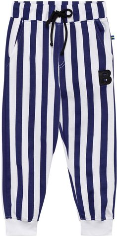 The BRAND Blue and White Stripe Sweat Pant