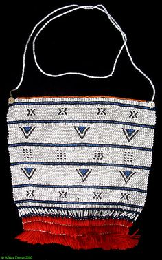 "Africa | Beaded apron ""Inkciyo"" from the Xhosa/Thembu people of the eastern Cape region of South Africa 